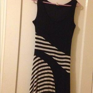 Black and white maxi dress